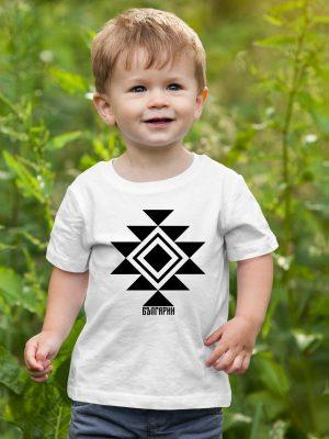 Бебешка тениска КАНАТИЦА бяла 1
