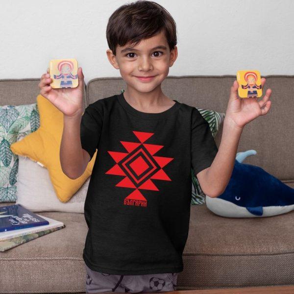 Детска тениска КАНАТИЦА черна 1
