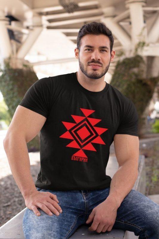 Мъжка тениска КАНАТИЦА черна