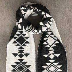 Шал КАНАТИЦА бял - черен