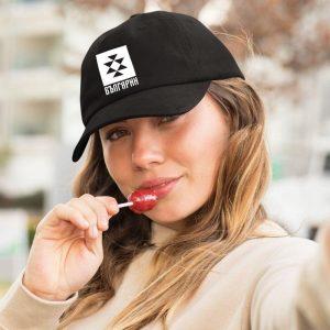 шапка БЪЛГАРИН с крива козирка черна