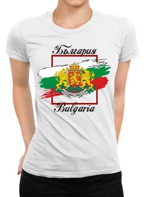 Дамска тениска БЪЛГАРСКИ СИМВОЛИ - Знаме