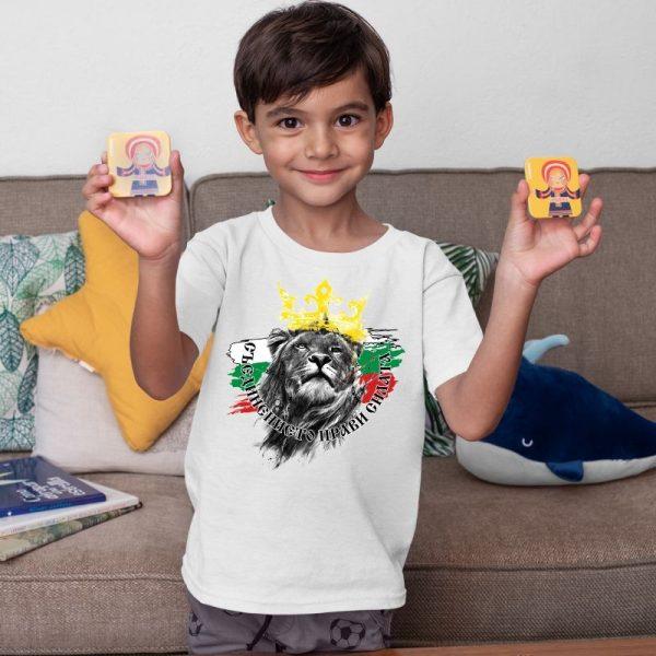 Детска тениска БЪЛГАРСКИ СИМВОЛИ - Съединението прави силата 1