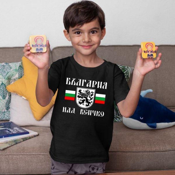 Детска тениска БЪЛГАРСКИ СИМВОЛИ - България над всичко 1